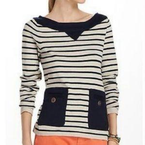 Anthro Tabitha nautical striped boatneck sweater